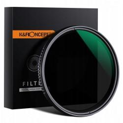 Filtr ND 72mm REGULOWANY szary FADER ND8-ND2000 KF