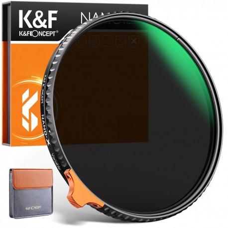 KF Filtr szary 72mm REGULOWANY ND2-ND400 fader PRO